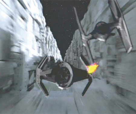 The TIE Fighter that bumped off Darth Vader in Star Wars: Episode IV.