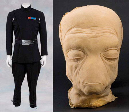 Imperial Officer costume and Cantina alien head.