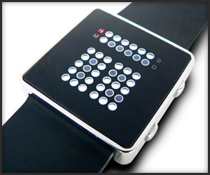 Tibida Binary LED Watch