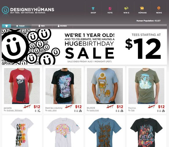 Design By Humans $12 Tees