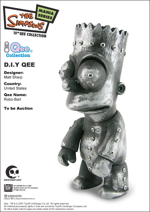 Bart Simpson Qee Auction