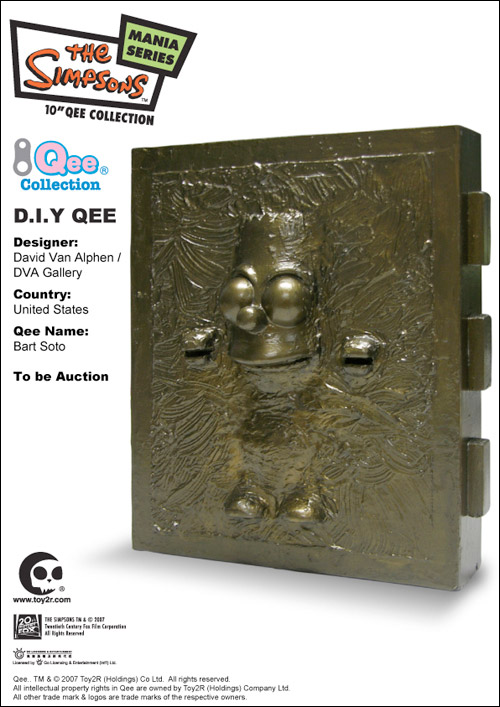 Bart Simpson Qee Auction