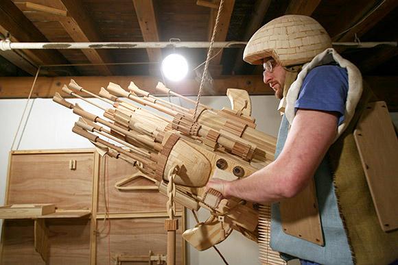 Wood Sci-Fi Sculptures