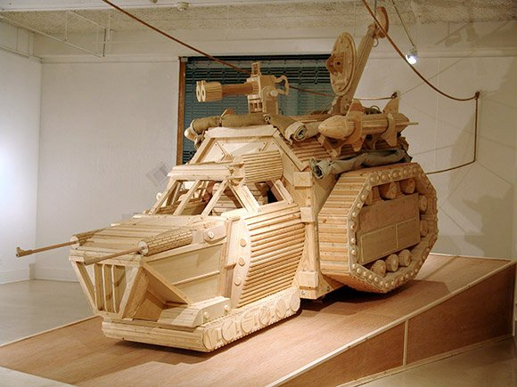 Wood Sci-Fi Sculptures
