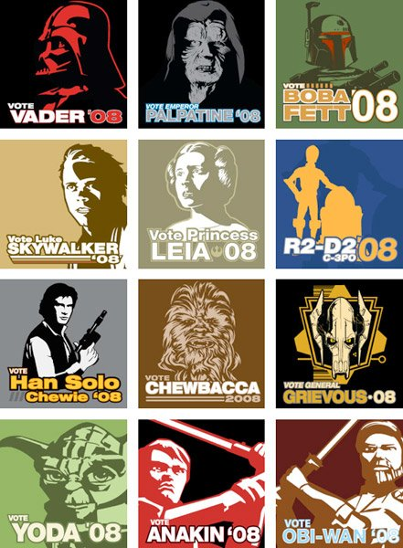 Star Wars Election '08 Tees