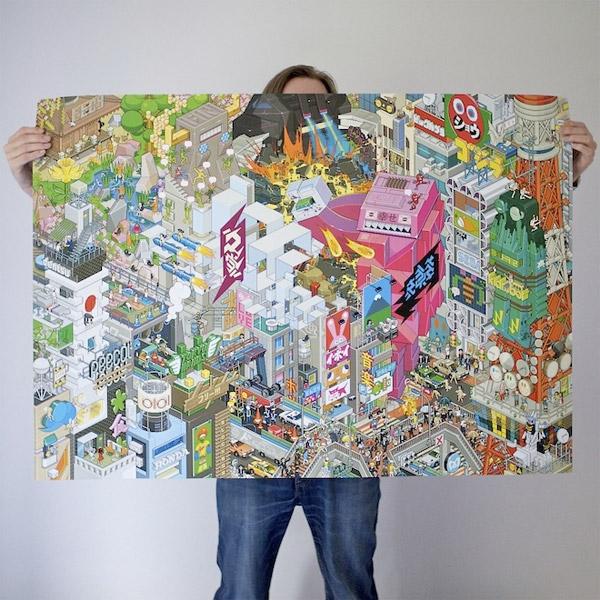 Eboy Tokyo Pixel Poster