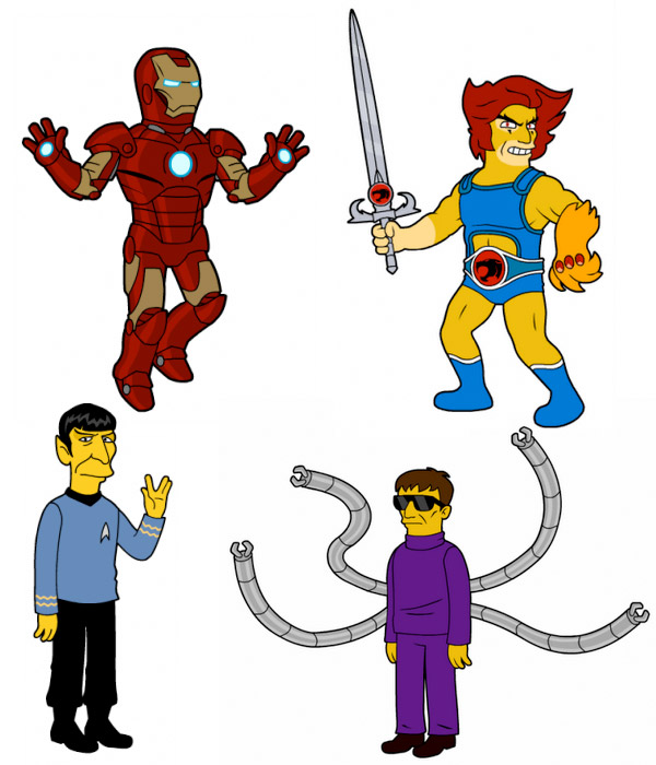 Simpsons-style Superheroes