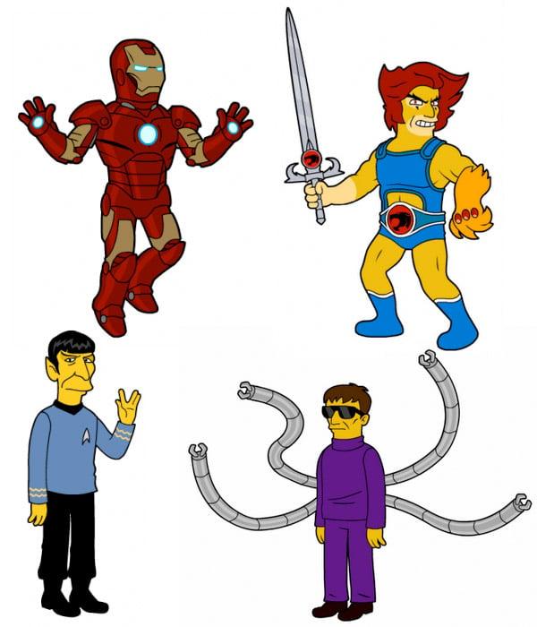Simpsons-style Superheroes
