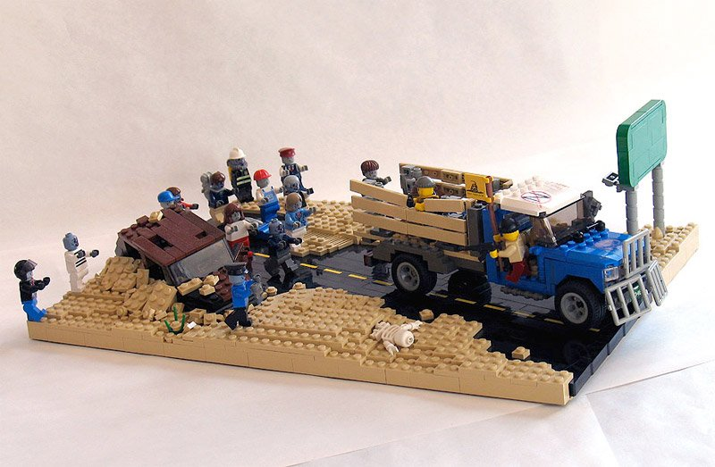 Zombie Hunt Lego Diorama - The Awesomer