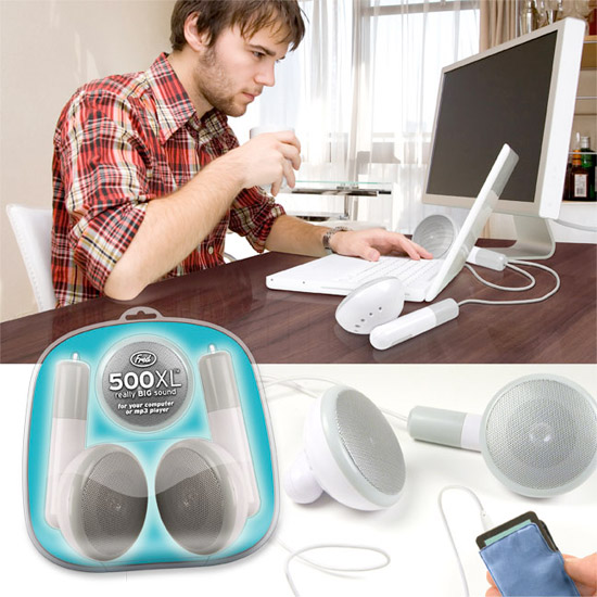 Giant Earbud Speakers