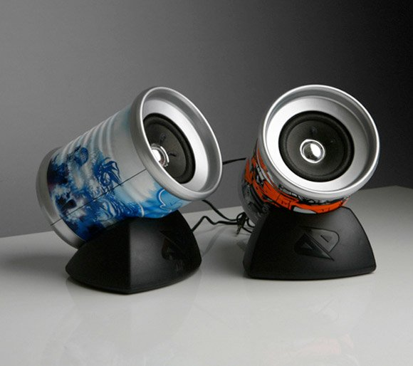 Boosted Tin Can Speakers