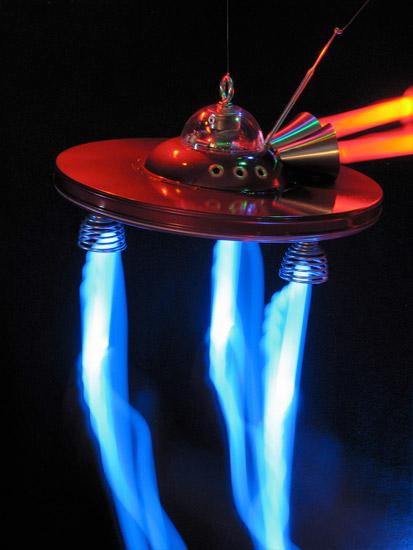 Saucerbot Lightpainting