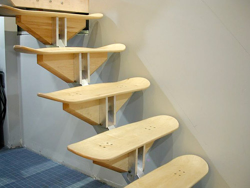 Skateboard Deck Stairs