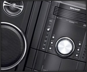 New Sharp Boomboxes
