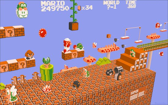 Wallpaper: 3D NES Games