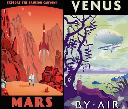 Interplanetary Travel Posters