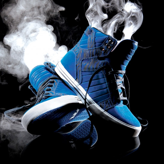 Supra Blue Black Skytops