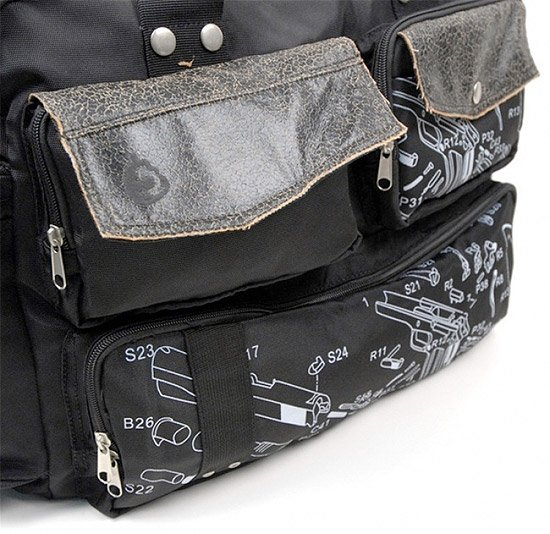 Exploded Laptop Bag