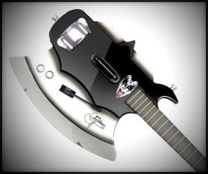 Gene Simmons Axe Guitar