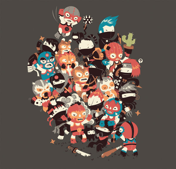 Ninjas vs. Luchadores