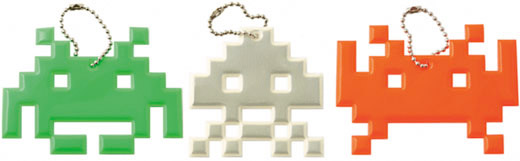 Space Invaders Dog Tags