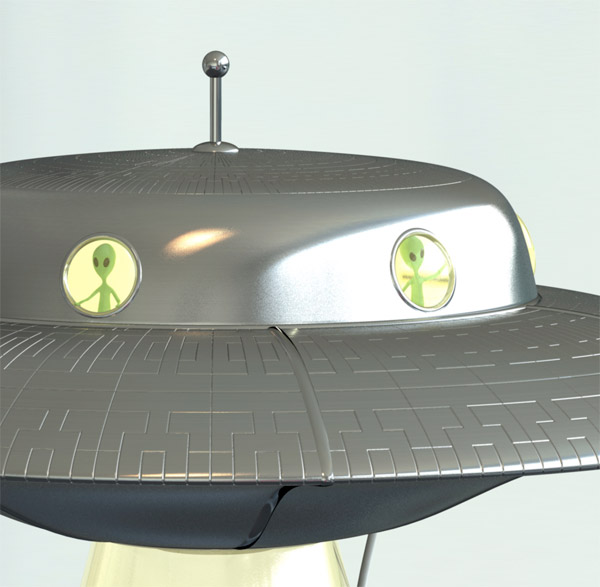 Alien Abduction Lamp ...