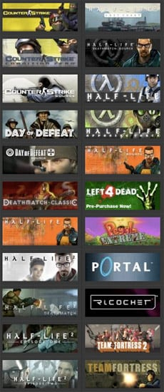 Deal: All Valve Games, $99