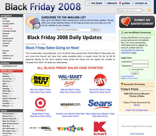 Black Friday: BFAds.net