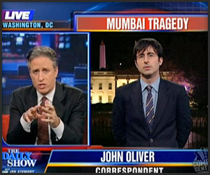 John Oliver on Mumbai