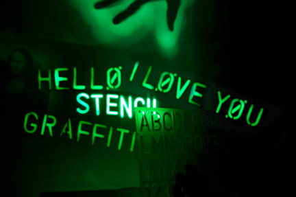 Glow in the Dark Graffiti