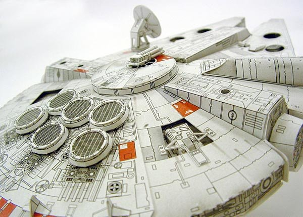Paper Millennium Falcon