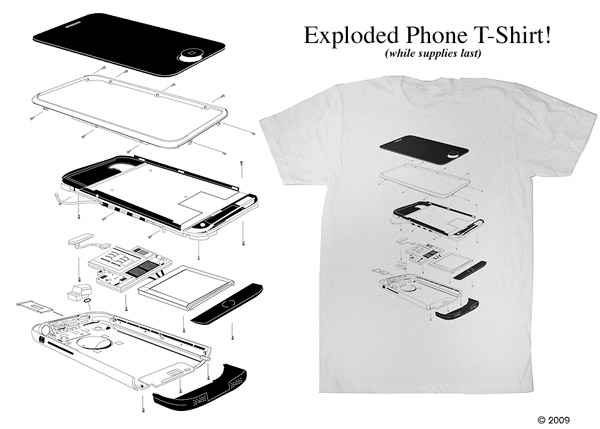 Exploded iPhone Tee