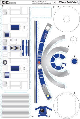 papercraft r2 d2   the awesomer