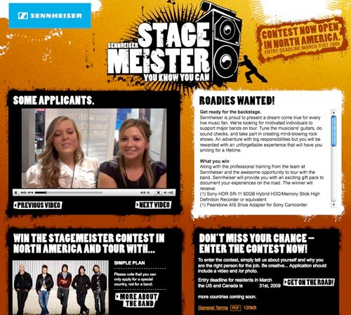 Stagemeister Roadie Contest
