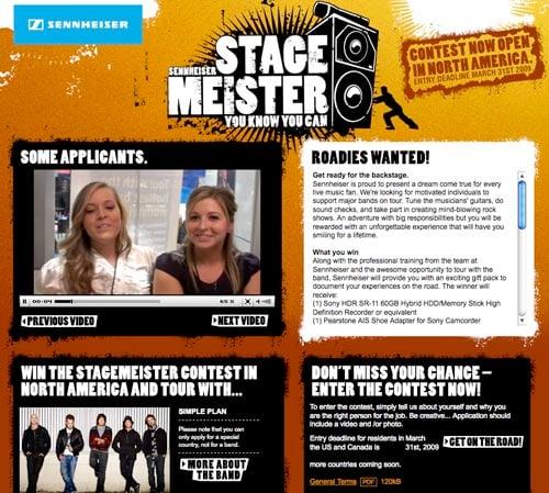 Stagemeister Roadie Contest