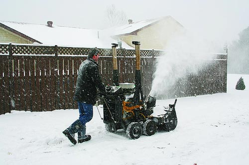 V8 Snowblower