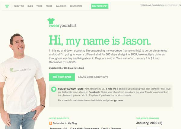 Website: I Wear Your Shirt