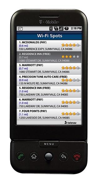 TeleNav GPS: G1 Phone