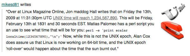 UNIX 1234567890