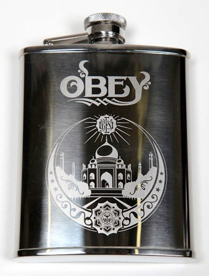 Obey Another Round Flask