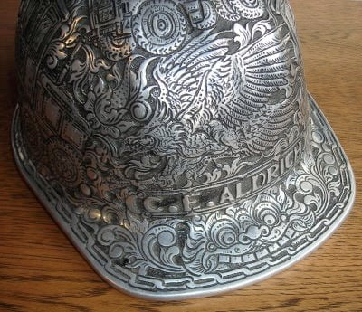 Hand-tooled Hard Hat