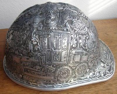 Hand-tooled Hard Hat