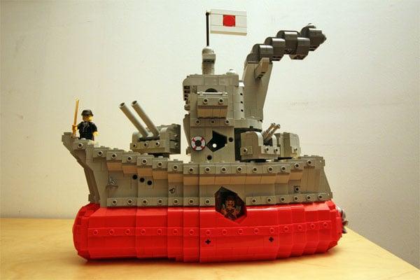 LEGO Yamato Sinking