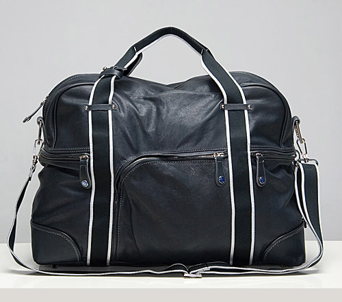 McQ Black Leather Duffel