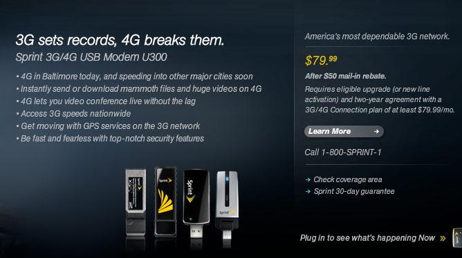 Sprint 3G/4G U300