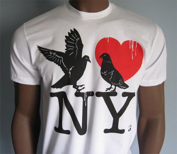 Pigeons Love NY Tee