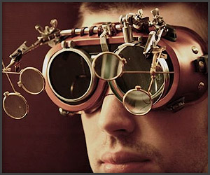 5 Lens Steampunk Goggles