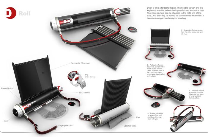 Concept: D-roll Laptop