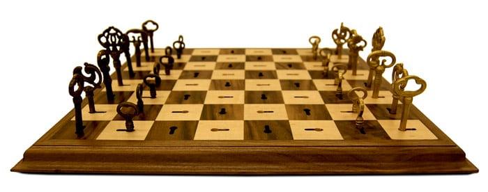 Skeleton Key Chess Board