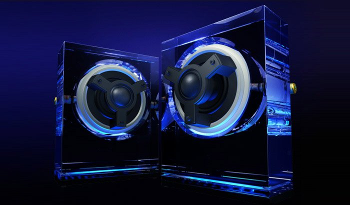 Odelic Glass Speakers